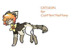 design for CatMintThePony by silly-sweetness