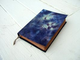 GALAXY, nebula - handmade journal, notebook, old p by Patiak