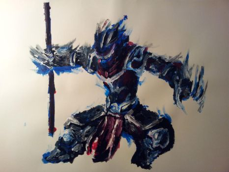 Practice #3 (Acrylics) by WinterWasComing
