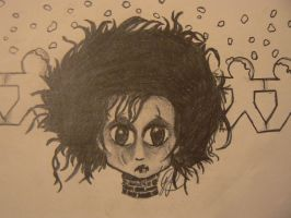 Chibi Edward Scissorhands by katiesparrow1
