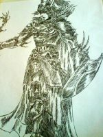 Warrior of Light FF Dissidia by nv8