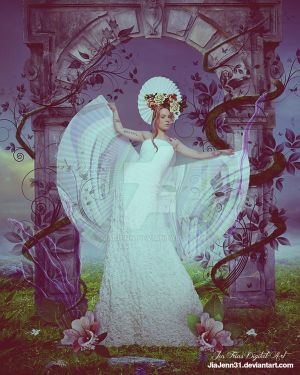 Secret garden, white angel by jiajenn
