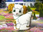 Horned little sheep Snowy by lovebiser