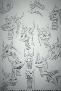 Spyro - facial expressions by Aid-the-dragon