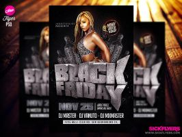 Black Friday Flyer Template by Industrykidz