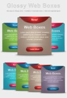 Glossy Web Boxes by Stembimo