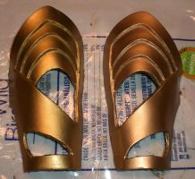 Loki costume: gauntlets test 2 by SeekerOfPatterns