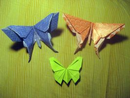 Origami Butterflys by musicmixer112