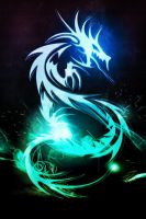 Neon Dragon(Vintique edit) by XxDannehxX