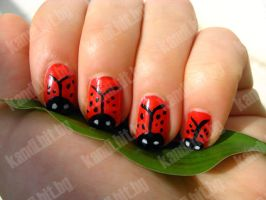 Ladybird nails part 6 by xzibitka