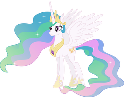 Princess Celestia Smiling by 90Sigma