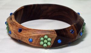 Sparkling Wood Bracelet by ACrowsCollection