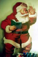 SANTA CLAUS(checking the list of those good guys) by christiano2211