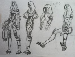 sketches Tali (25) by spaceMAXmarine