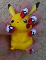 Pokeball Nail Art by MissDaniLips
