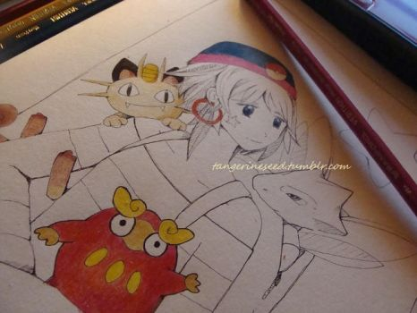 Pokemon pt.4 - WIP by tangerine-blossom