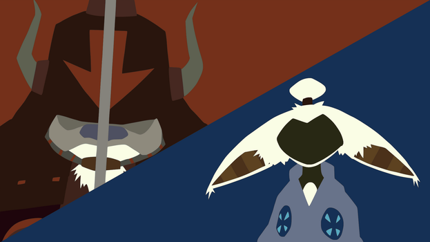 Appa v. Momo Minimalist Wallpaper by DamionMauville