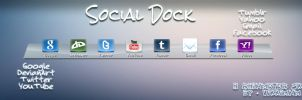 Social Dock - Rainmeter Skin by vikkimnm