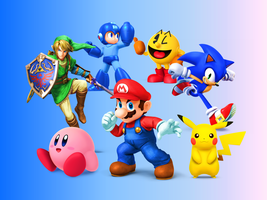 Super Smash Bros 4  Video Games All Together by 9029561