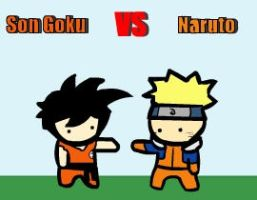 Son Goku VS Naruto by LazyMuFFin