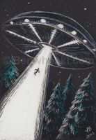 ACEO Abduction by benwhoski