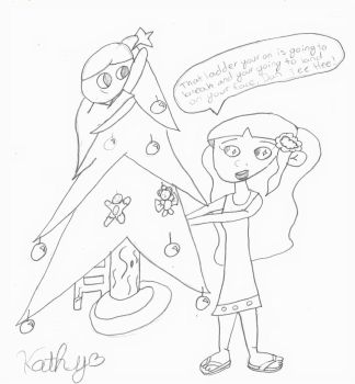 DanXSara Decorating the Tree by Prettydog200
