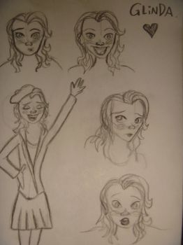 Glinda Sketches by OnceUponANight23
