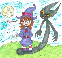 Halloween Annie and Shade by Kittychan2005