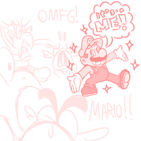 COME AT ME BRO - A Mario Sketch by JamesmanTheRegenold