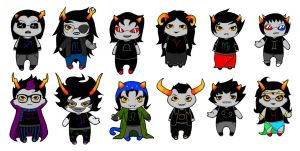 Homestuck trolls by AleKaiLin