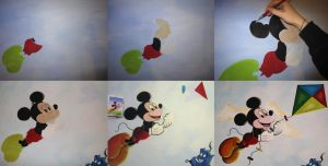 Mickey Mouse WIP by Bonniemarie