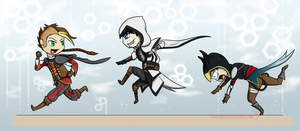 Chibi Assassins - OC's by suki-red