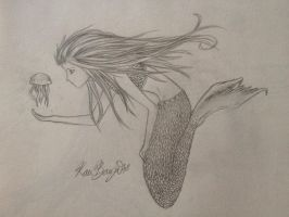 Mermaid - Traditional - Finished by Lightbuscus