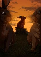 Watership Down - The Great Patrol by LadyFiszi