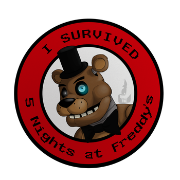 I Survived Five Nights at Freddy's [ON REDBUBBLE] by DrFoxes