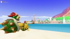 GMOD: Bowser and Bowser Jr. by clauuxx