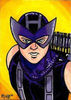 Sketchcard Hawkeye by RichBernatovech