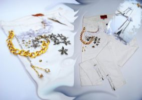 Hand Made Crystallized Jeans by Avinar