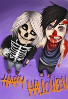 Happy Halloween, guys :'DDD by Stoffkamel