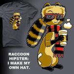 Raccoon Hipster I Make My Own by amegoddess