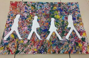 Beatles Abbey Road - Jackson Pollock Inspired by jaefyn