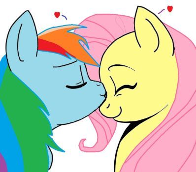 Rainbow X Fluttershy by maplesyrup19