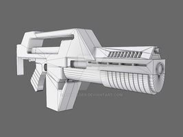 Low Poly M41A by paulelder