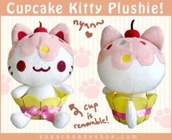 Cupcake Kitty Plush by celesse