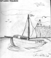 Boat Drawing by studio-toledo