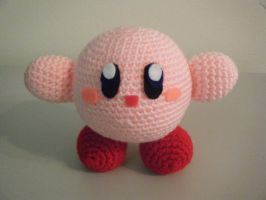 kirby crocheted plushie by pepper-p
