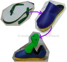 EVA-01 from sandal to shoes by V-male