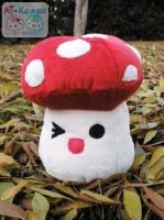 Red Spotted Mushroom Plushie by LiLMoon
