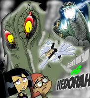 Danny phantom vs Hedorah by mayozilla