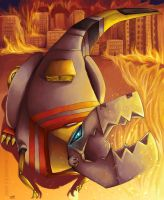 Animated: Grimlock by shiroi-ryu